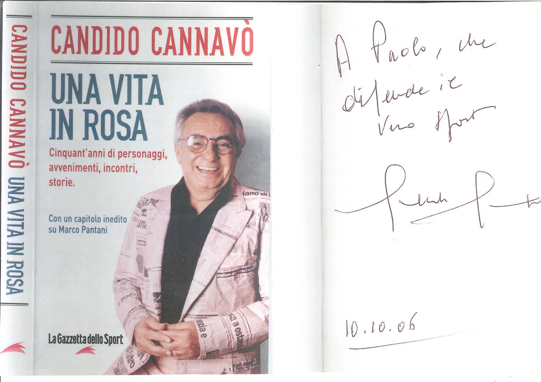 La dedica che Candido Cannavò, storico direttore de «La Gazzetta dello Sport» ha scritto per il Presidente di Achillea 2002 Paolo Luzi